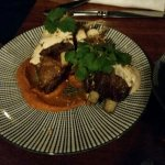 Lamb with harissa dinner