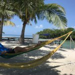 Bread and Butter Caye relaxing