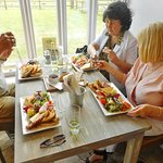 Lunch with friends at Hall Farm, Stratford St. Mary, Suffolk