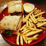 Chicken Finger BLT & Fries.