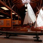 interior of one of the boat sheds