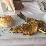 Sea Bass and Rice Pilaf