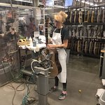 Guitar polisher in Martin factory