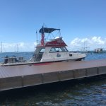 Lunch at Rumrunners before the Dive while watching the boat and the Tarpon