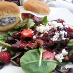 Combo 2 sandwiches and Tuscan Berry Salad.