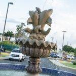 Hotel entrance fountain