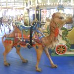 Camel & part of a chariot on the 1910 Dentzel Looff carousel