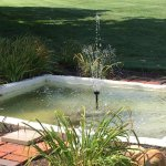 Little fountain on grounds of Inn
