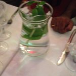 pitcher of water with Mint