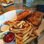 Fish and chips at dockside