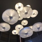 Interesting lights in lobby are