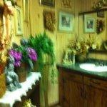 women's washroom (darn it - it's blurry)