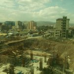 Bird's-eye view od Addis Ababa from ninth floor of Empire Addis Hotel