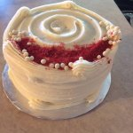 """A 6"""" red velvet cake ... it was a real hit!"""