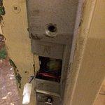 Security door unworkable.