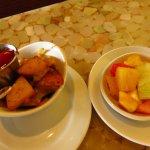 Potato and fruit salad