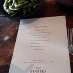 The shared meal menu