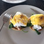 YUM! Eggs Benedict with smoked salmon.