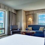 Our Parlor Queen Room offers views of Old City
