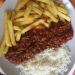 You can't beat a bit chilli chips and rice