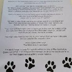 Doggie welcome letter