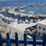 Hotel and Santorini island