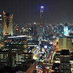 Bangkok city view at nightfall