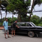Burasari's antique car for airport pick up/ drop off