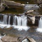 Photo of Bracklinn Falls Bridge and Callander Crags