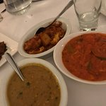 Vegan Aloo gobi, tikka masala and tarka dhal