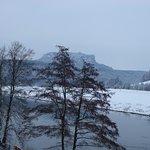Blick zum Lilienstein im Frühjahr 2013