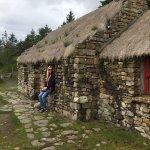 Outside Dan's cottage.