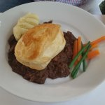 Braised Malbec Beef with a puff pastry hat