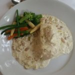 Chicken Breast with leeks, cannellini beans and cream