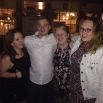 Liam the lad and the ladies at McGlynns on 05/08/2017