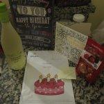 Birthday gift from hotel