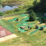 Mini golf & tennis court plus a small nature walk