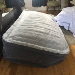 Beware of the camping bed. Not a good solution for a rollaway bed at all and the only downside t