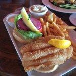 Creamy, white, delicious fish under the bread