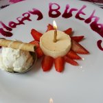 Birthday panna cotta