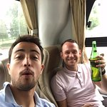 Morning beers on the coach... Note it was only me and definitely just to avoid a hangover!