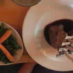 Lamb chops and side veggies