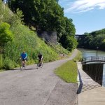 Ride along the Erie Canalway Towpath alongside the Iconic Flight of Five Locks..