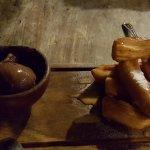 Churros with chocolate ice-cream