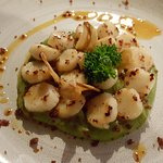 Scallops with greenpeas