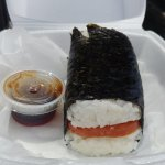 Spam musubi (see how big it is?!)