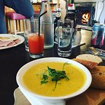 Yummy Carrot, Coconut, Coriander & lime soup!
