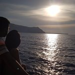 Sailing into the sunset on the 'Caldera Sunset Cruise with dinner'