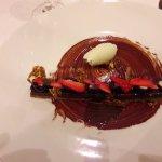 dessert chocolat noir et glace truffé