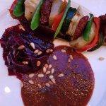 main course, vegan set meal